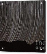 Star Trails Above A Valley Acrylic Print by Amin Jamshidi