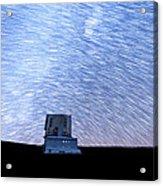 Star Trails Above Subaru Telescope Acrylic Print