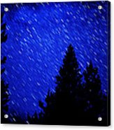 Star Trails In Night Sky Acrylic Print
