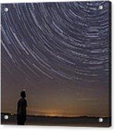 Star Trails Night Sky Landscape Vermont Lake Champlain Acrylic Print