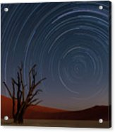 Star Trails Of Namibia Acrylic Print