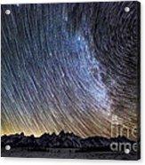 Star Trails Over Teton Mountains Acrylic Print