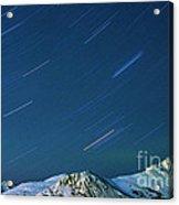 Star Trails Over The Chugach Mountains Acrylic Print