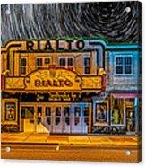 Star Trails Over The Rialto Acrylic Print