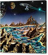 Star Trek - Orbiting Planet Acrylic Print