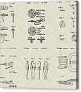 Star Trek Patent Collection Acrylic Print