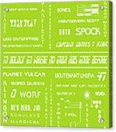 Star Trek Remembered In Green Acrylic Print