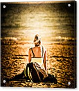 Staring At The Horizon Acrylic Print