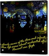 Staring At The Starry Night In The Moma Acrylic Print