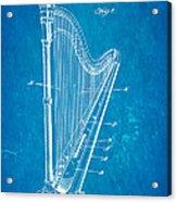 Starke Harp Patent Art 1931 Blueprint Acrylic Print