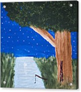 Starlight Fishing Acrylic Print by Melissa Dawn