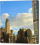 Manhattan Skyline Here Comes The Sun Acrylic Print by Dan Sproul