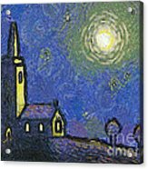 Starry Church Acrylic Print by Pixel Chimp
