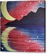 Starry Lake Acrylic Print