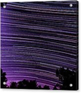 Starry Night In Ithaca New York Star Trail Photography Acrylic Print