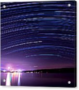 Starry Night On Cayuga Lake Acrylic Print