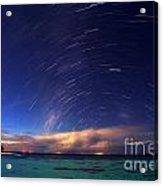 Starry Night On Tropical Resort Acrylic Print