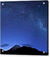 Starry Night Over Mount Ngauruhoe Acrylic Print