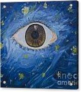Starry Night With Eye  Acrylic Print