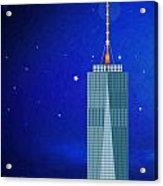 Starry Nights - Wtc One Acrylic Print