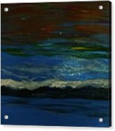 Starry Sky Over Water Acrylic Print