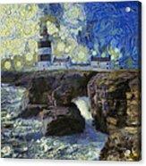 Starry Hook Head Lighthouse Acrylic Print