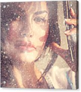 Starry Woman. Day Dreamer Acrylic Print