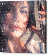 Starry Woman Acrylic Print