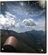 Stars And Planets In A Valley Acrylic Print