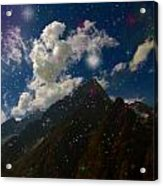 Stars And Planets On Mont Blanc Acrylic Print