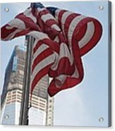 Stars And Stripes And 1 W T  C Acrylic Print