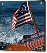 Stars And Stripes Ensign Acrylic Print by Steven Lapkin