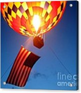 Stars And Stripes Glow Acrylic Print