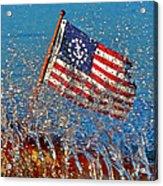 Stars And Strips At Lake Tahoe Acrylic Print