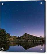 Stars Reflect In Cawfield Quarry Acrylic Print