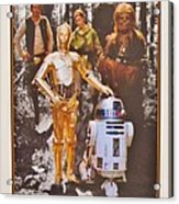 Stars Wars Autographed Movie Poster Acrylic Print