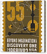 Starschips 55-poststamp -discovery One Acrylic Print by Chungkong Art