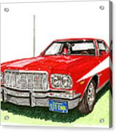 Starsky Hutch 1974 Ford Gran Torino Sport Acrylic Print