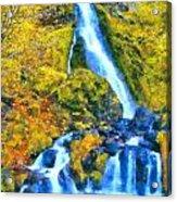 Starvation Creek Falls Acrylic Print