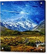 Stary Night Over Highlands Acrylic Print