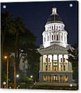 State Capitol At Night Sacramento Acrylic Print