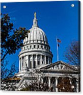 State Capitol In Madison Wi Acrylic Print