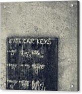 State Car Keys Acrylic Print