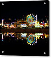 State Fair In Reflection Acrylic Print