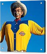 State Fair Of Texas Big Tex Yellow Acrylic Print