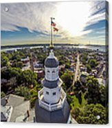 State House Beauty Over Annapolis Acrylic Print