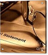 Statement With Glasses Acrylic Print