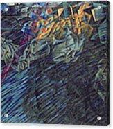 States Of Mind    Those Who Go Acrylic Print by Umberto Boccioni