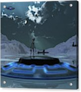 Station 211 Alien Nazi Base Located Acrylic Print