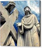 Station Of The Cross  Acrylic Print